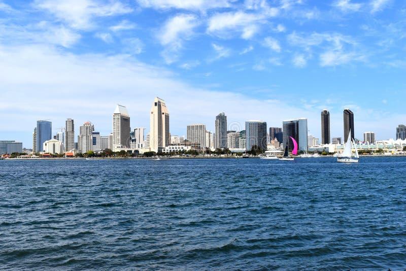 Paisaje urbano de San Diego Coastline imagenes de archivo