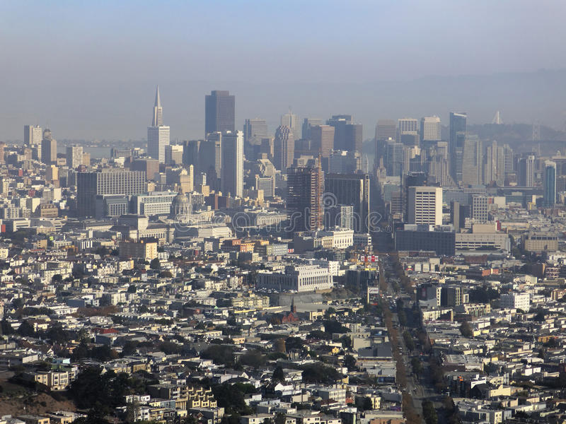 Paisaje urbano de San Francisco fotos de archivo libres de regalías