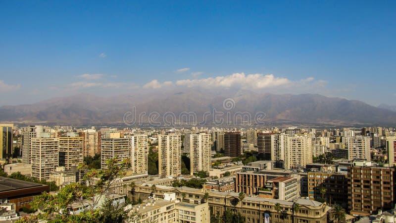 Paisaje urbano de Santiago, Chile imagenes de archivo