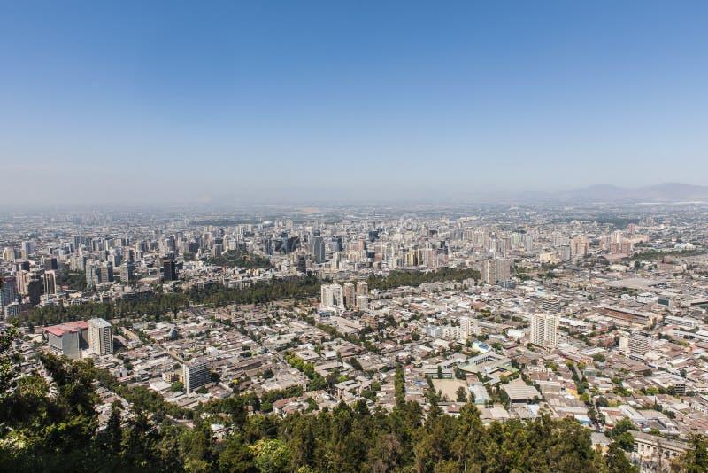 Paisaje urbano de Santiago de Chile fotos de archivo