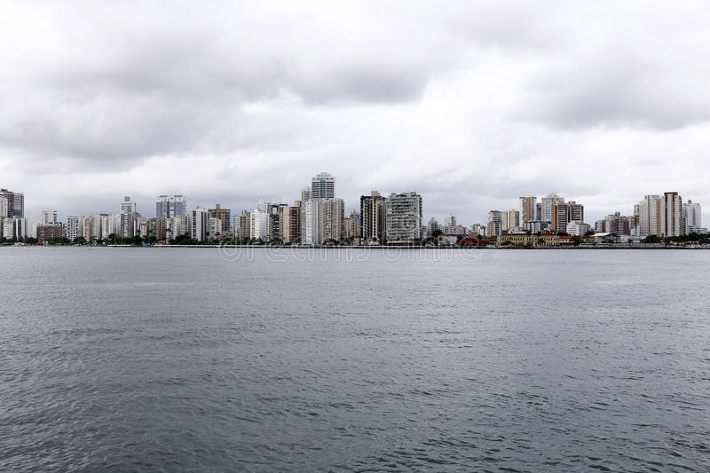 Paisaje urbano de Santos imágenes de archivo libres de regalías