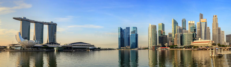 Paisaje urbano de Singapur imagen de archivo