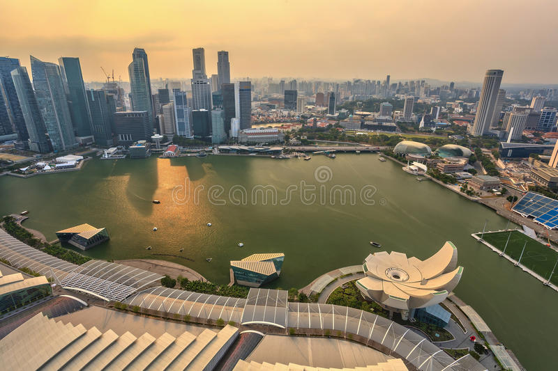 Paisaje urbano de Singapur fotografía de archivo