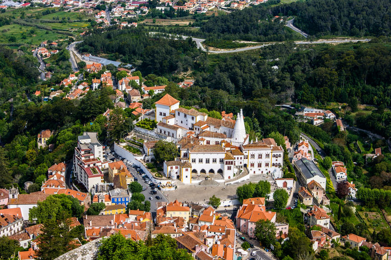 Paisaje urbano de Sintra fotos de archivo libres de regalías