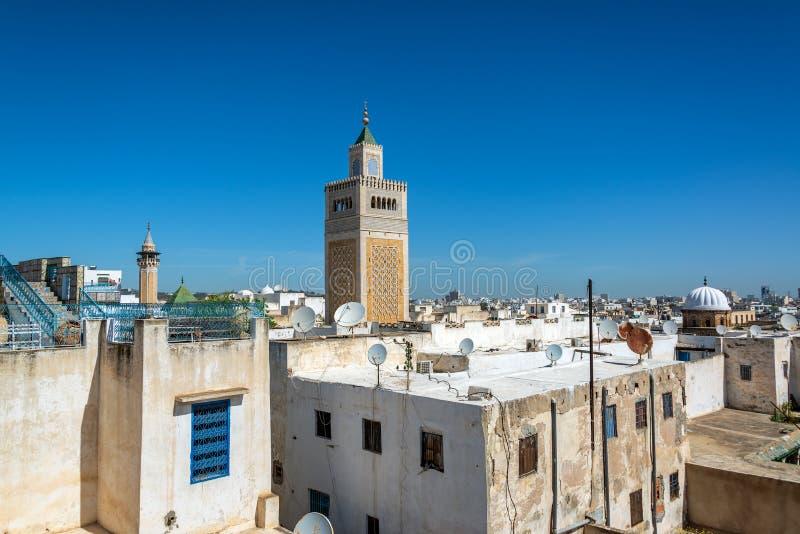 Paisaje urbano de Túnez, Túnez foto de archivo libre de regalías