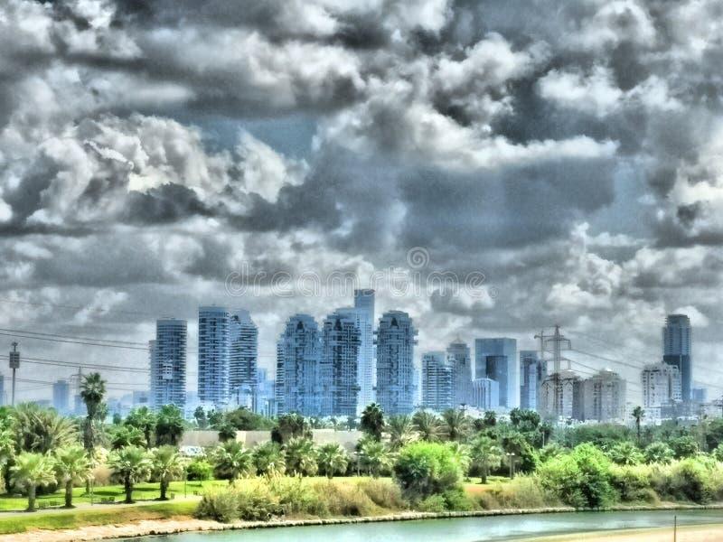 Paisaje urbano de Tel Aviv fotos de archivo libres de regalías