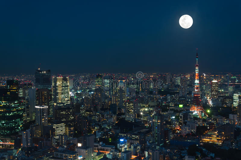 Paisaje urbano de Tokio fotos de archivo
