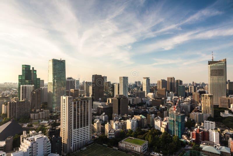 Paisaje urbano de Tokio foto de archivo libre de regalías