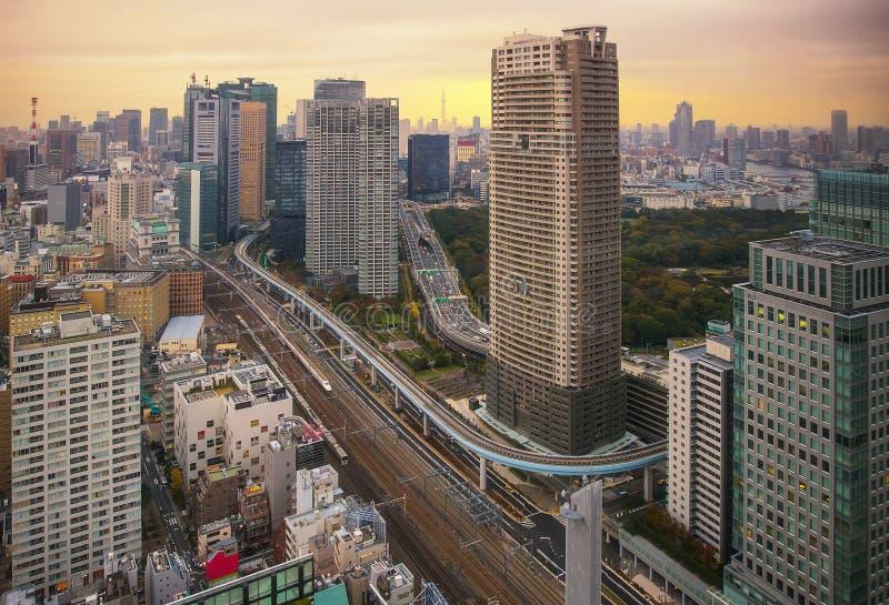 Paisaje urbano de Tokio, Japón imagen de archivo