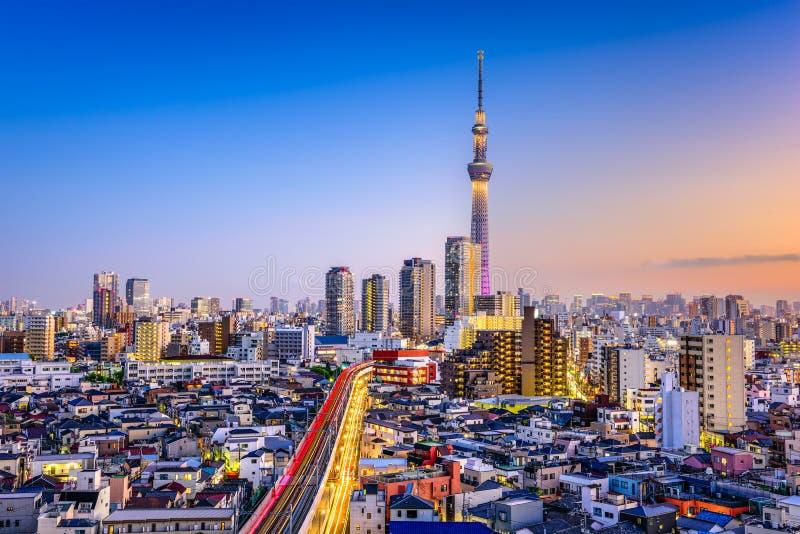 Paisaje urbano de Tokio, Japón foto de archivo