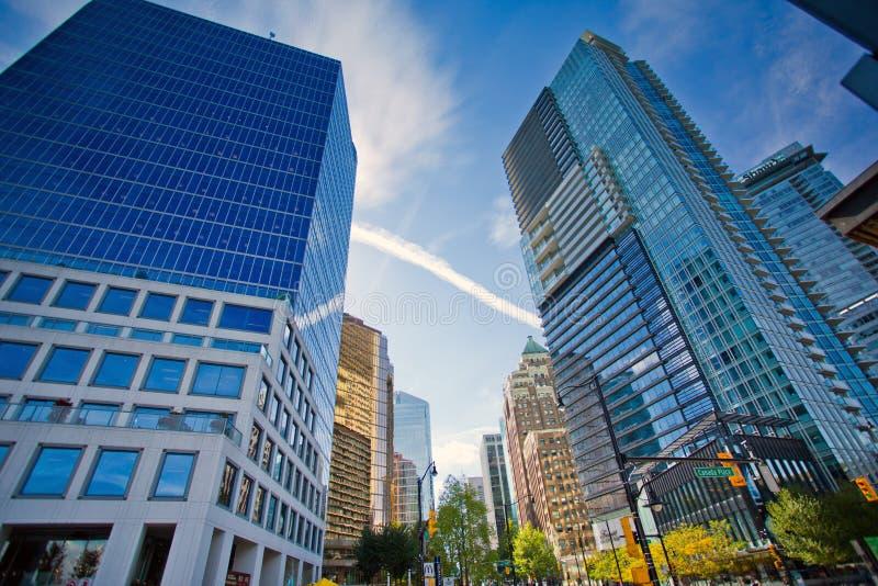 Paisaje urbano de Vancouver/edificios de oficinas imagenes de archivo