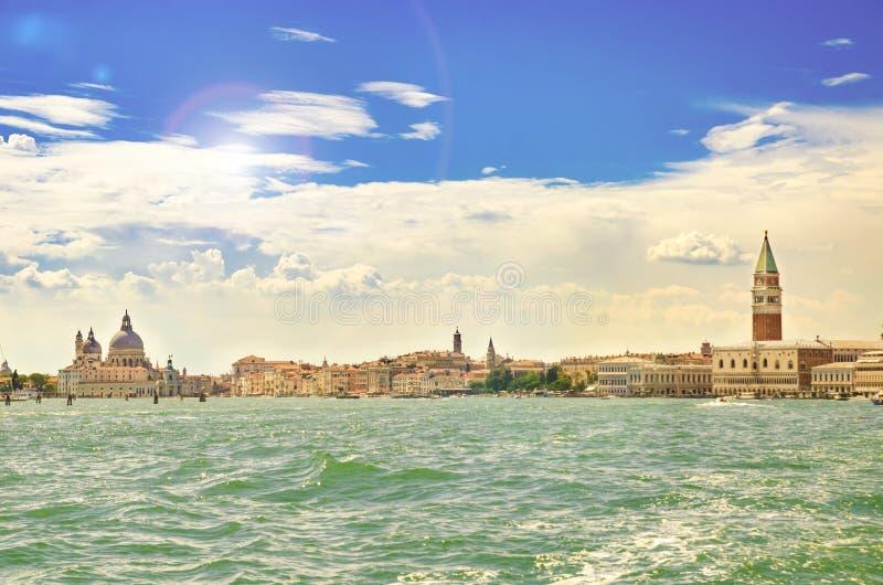 Paisaje urbano de Venecia fotografía de archivo libre de regalías