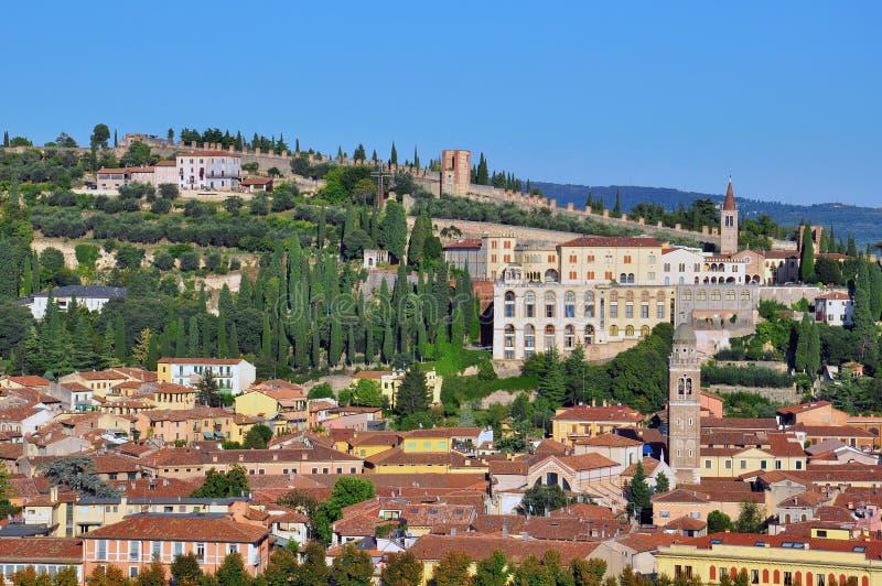 Paisaje urbano de Verona imagenes de archivo