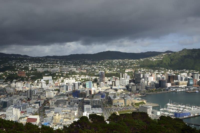Paisaje urbano de Wellington, NZ imágenes de archivo libres de regalías