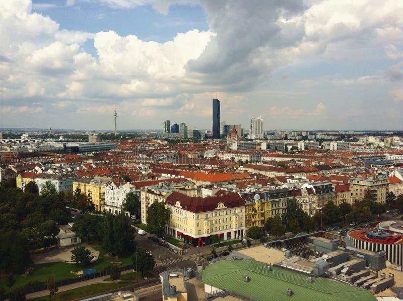 Paisaje urbano de Wien foto de archivo
