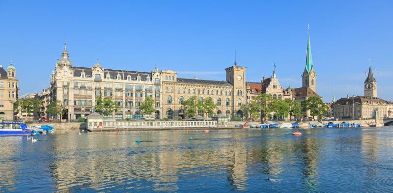 Paisaje urbano de Zurich fotografía de archivo