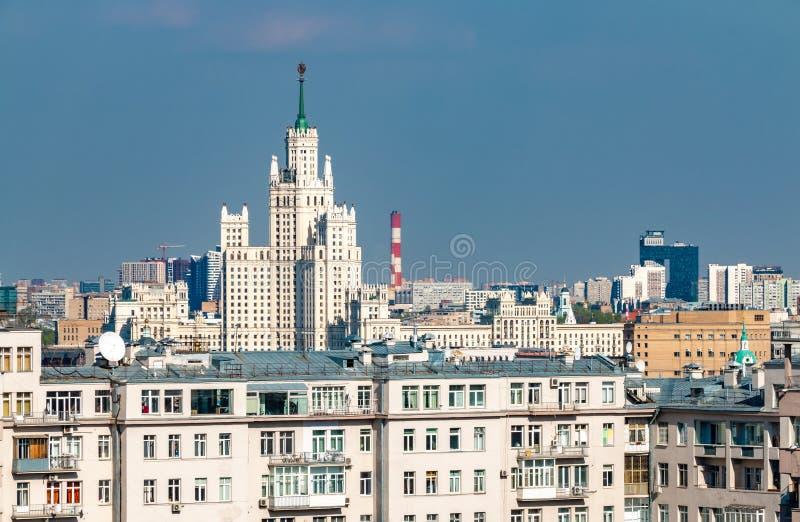 Paisaje urbano del centro de ciudad de Mosc? Vistas de Rusia fotografía de archivo libre de regalías