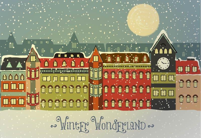 Paisaje urbano del invierno libre illustration