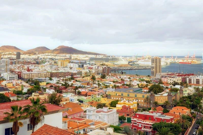 Paisaje urbano del Las Palmas en Gran Canaria, islas Canarias, España imagenes de archivo