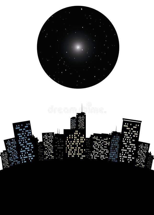 Paisaje urbano del vector ilustración del vector