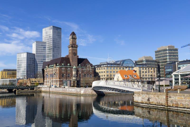 Paisaje urbano en Malmö, Suecia fotos de archivo libres de regalías