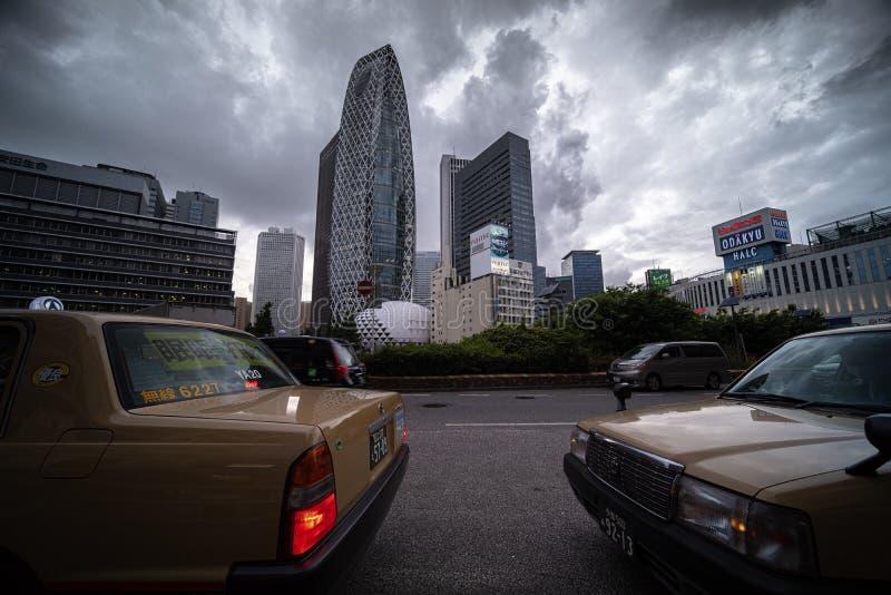 Paisaje urbano en Tokio imagen de archivo libre de regalías