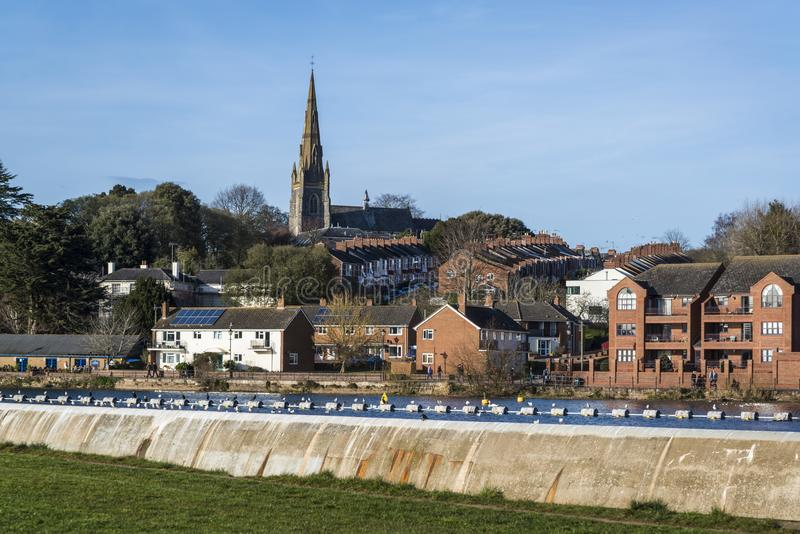 Paisaje urbano, Exeter, Devon, Inglaterra, Reino Unido imagen de archivo