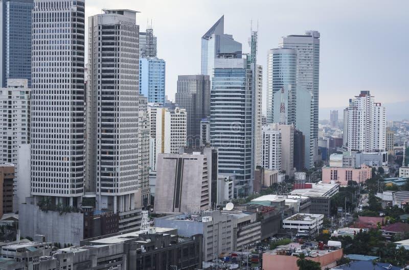 Paisaje urbano Filipinas de manila de la avenida de Makati fotos de archivo libres de regalías