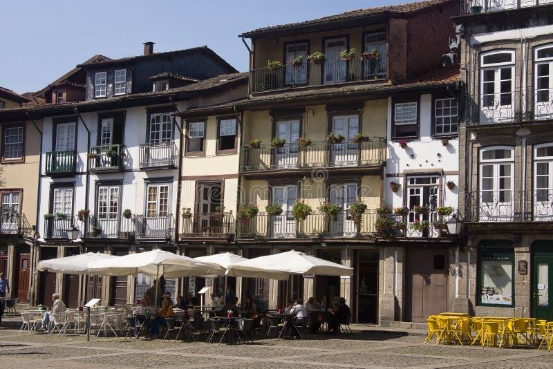 Paisaje urbano Guimaraes Portugal foto de archivo libre de regalías