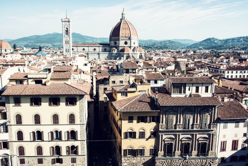 Paisaje urbano hermoso de Florencia con la catedral Santa Maria del F imágenes de archivo libres de regalías