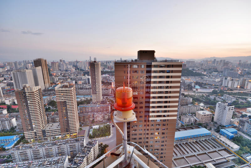 Paisaje urbano moderno en la ciudad de Kunming fotos de archivo libres de regalías