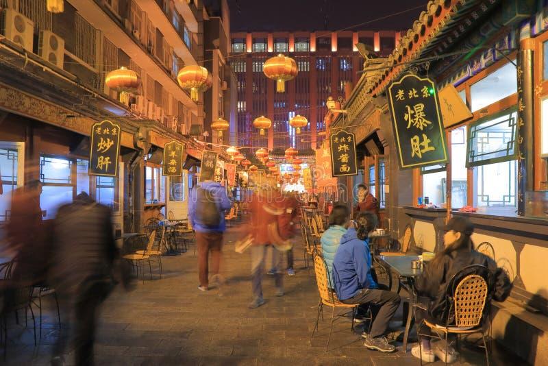 Paisaje urbano Pekín China de las compras de Wangfujing fotografía de archivo