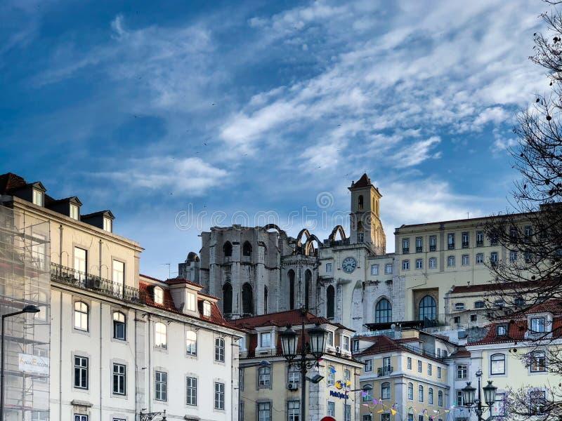 Paisaje urbano Portugal de Lisboa imagen de archivo libre de regalías