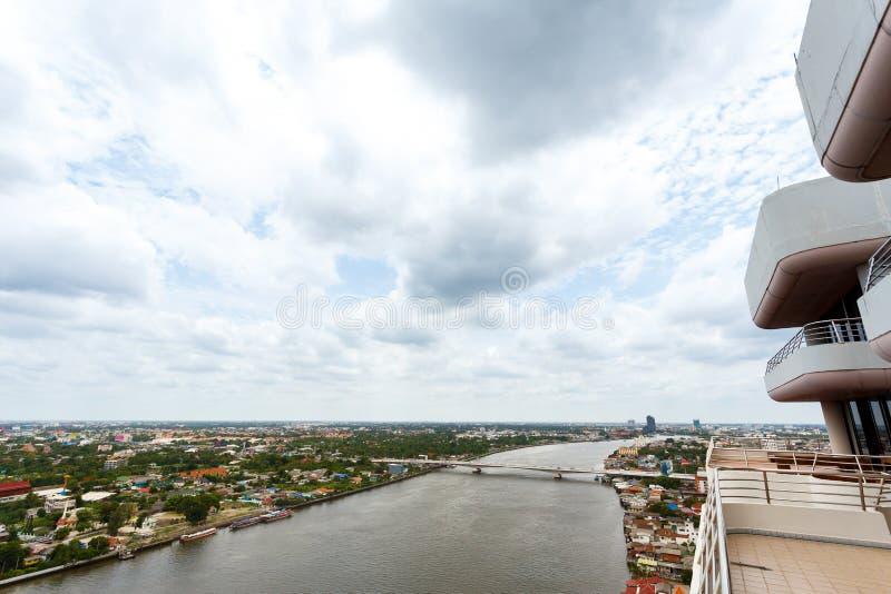 Paisaje urbano Tailandia del río Chao Phraya Bangkok imágenes de archivo libres de regalías