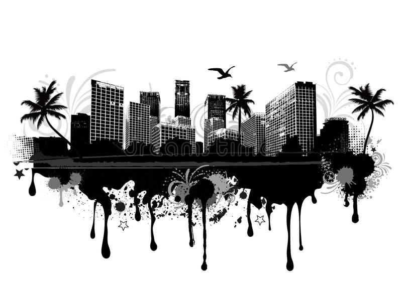 Paisaje urbano urbano libre illustration