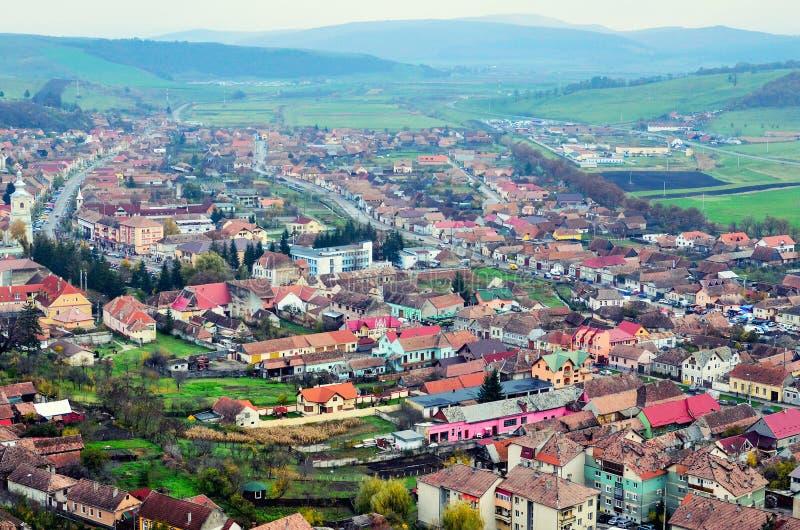 Paisaje urbano - visión desde arriba imagen de archivo