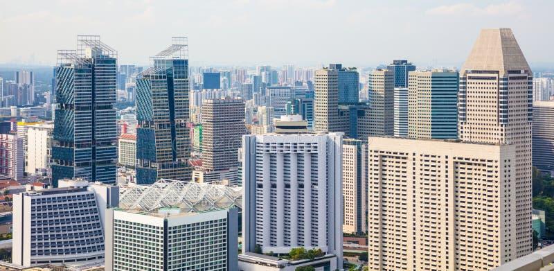 Paisaje urbano y horizonte de Singapur imagen de archivo
