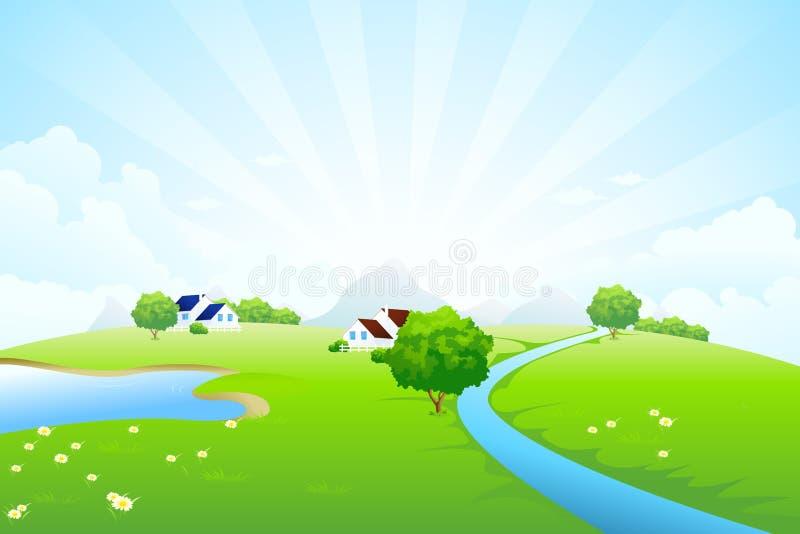 Paisaje verde ilustración del vector
