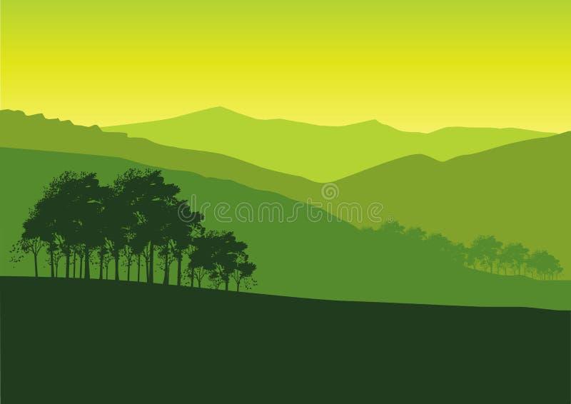Paisaje verde stock de ilustración