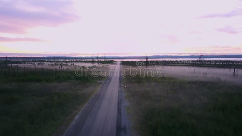 Paisaje verde con muchos lagos en la península de cola, Rusia imágenes de archivo libres de regalías