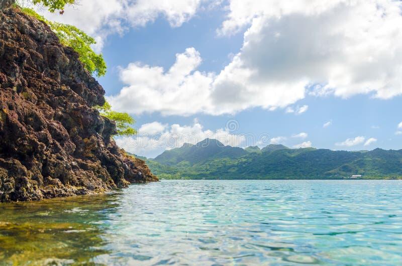 Paisaje verde de la isla imágenes de archivo libres de regalías