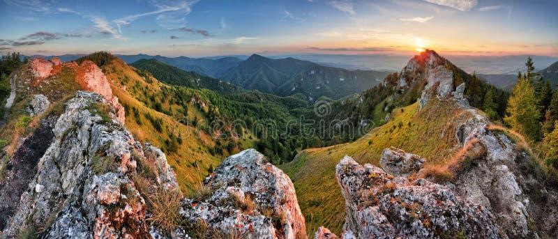 Paisaje verde de la naturaleza de la montaña en el pico Ostra de Eslovaquia imágenes de archivo libres de regalías