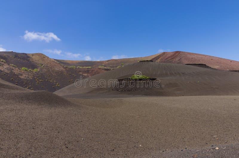 Paisaje volcánico en Timanfaya fotografía de archivo libre de regalías