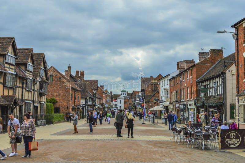 Paisaje y horizonte ingleses de la ciudad de Stratford-sobre-Avon foto de archivo libre de regalías