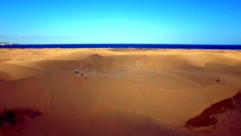 Paisaje y vista de Gran Canaria hermoso en las islas Canarias, España imagen de archivo libre de regalías