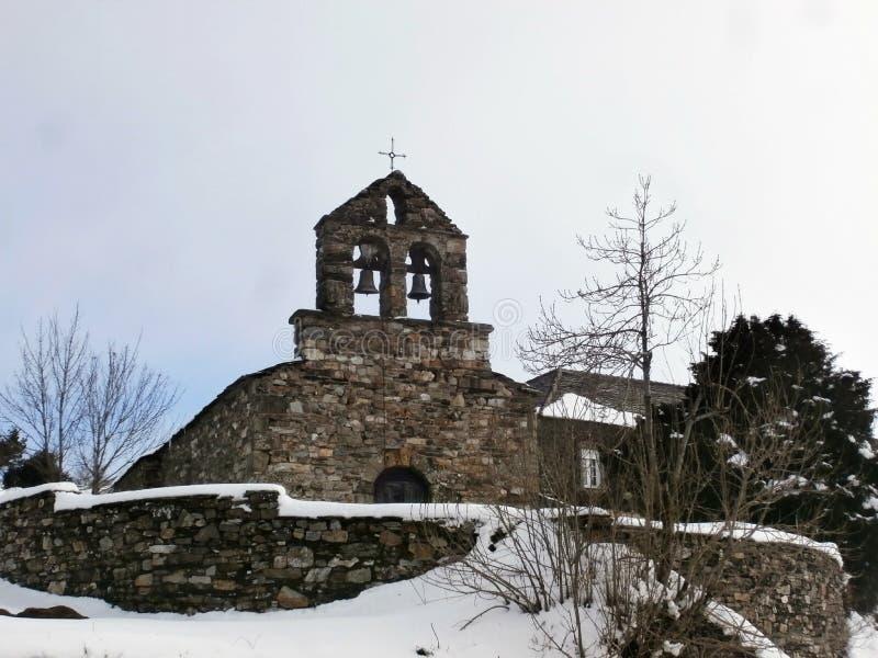 Paisajes, capillas, iglesias, caminando a Compostela Camino de Santiago imagen de archivo libre de regalías