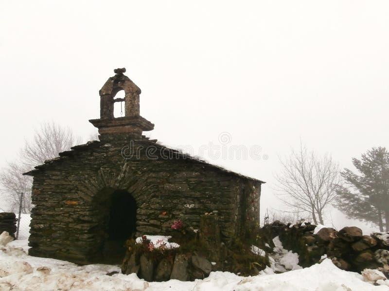 Paisajes, capillas, iglesias, caminando a Compostela Camino de Santiago foto de archivo