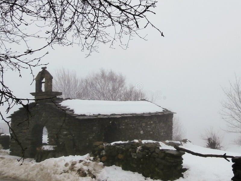 Paisajes, capillas, iglesias, caminando a Compostela Camino de Santiago imágenes de archivo libres de regalías