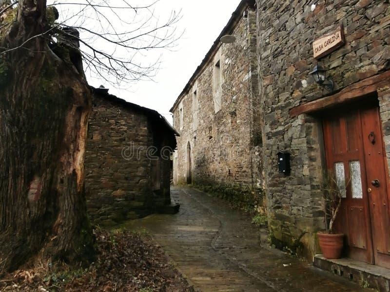 Paisajes, capillas, iglesias, caminando a Compostela Camino de Santiago foto de archivo libre de regalías