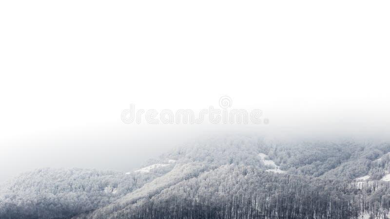 Paisajes congelados en un día muy frío en las montañas de Rumania fotos de archivo libres de regalías